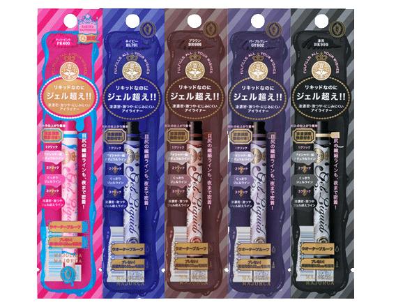 MAJOLICA MAJORCA Gel Liquid liner全5色 JPY950/1.4ml
