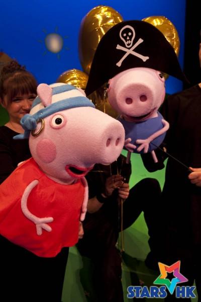 Peppa Pig Treasure Hunt; Production shots; G-Live, Guildford; 13th October 2011. © Pete Jones. pete@pjproductions.co.uk.