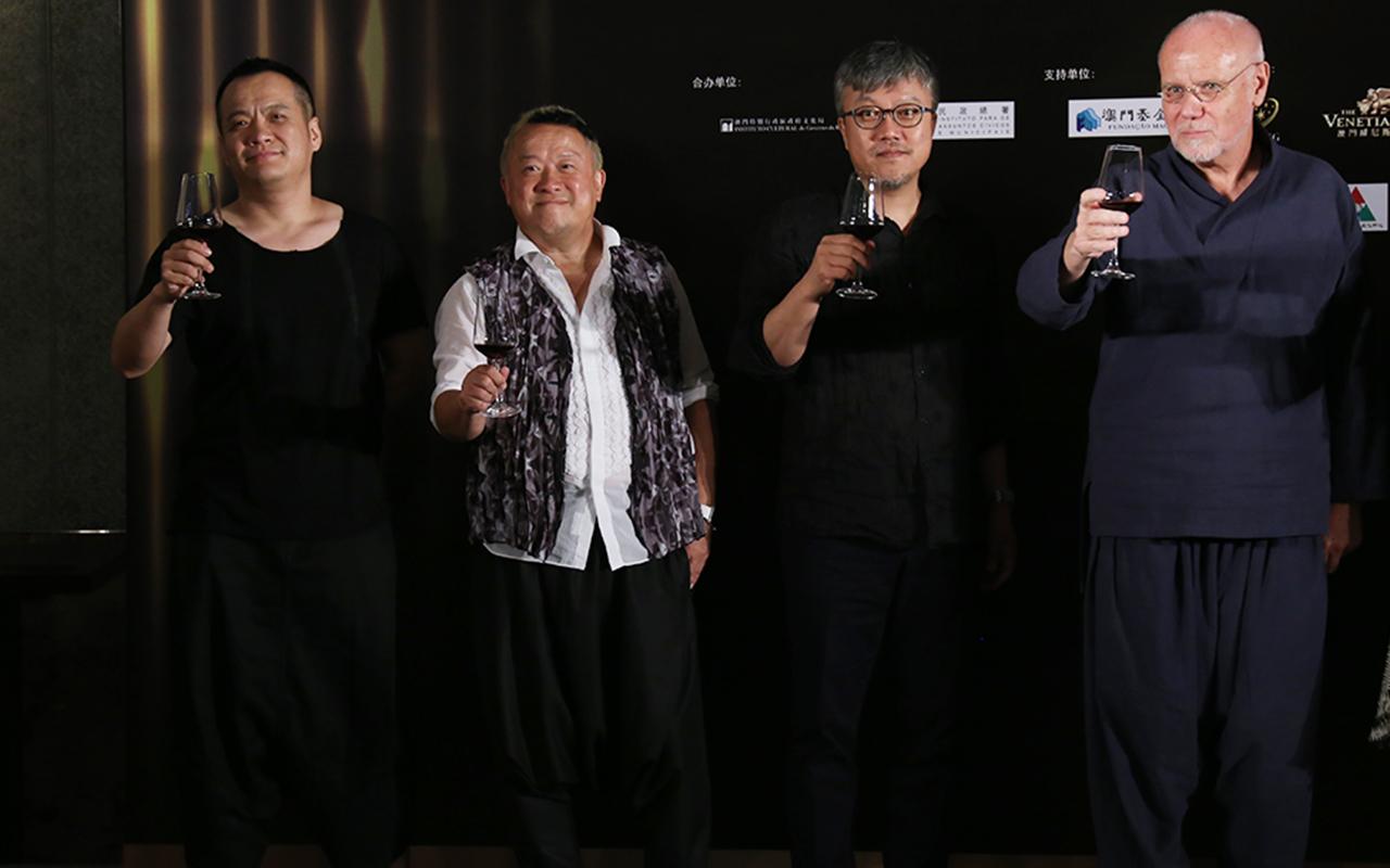 澳门影展总监马可·穆勒、曾志伟、宁浩