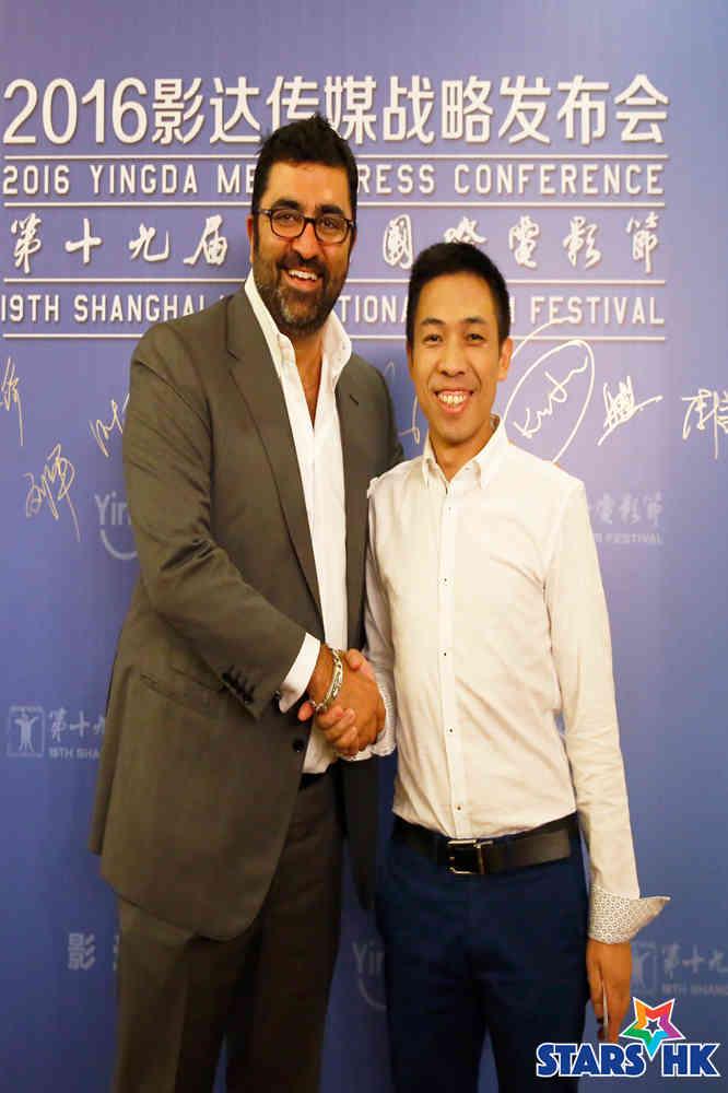K.Jam Media公司创始人Kia Jam先生与影达传媒创始人叶进锋先生