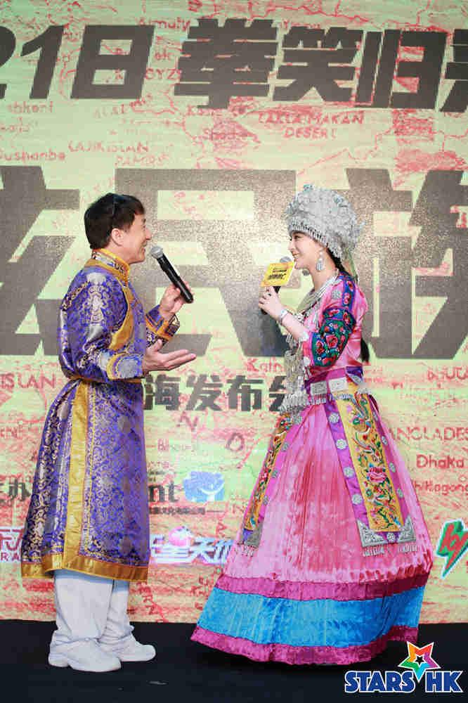 成龙、范冰冰现场演唱《明明白白我的心》