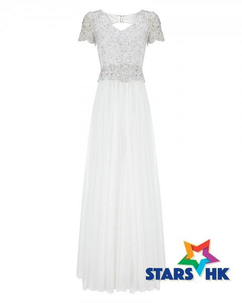 EVANGELINE TULLE EMBELLISHED WEDDING DRESS_203267