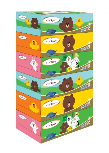 Virjoy x LINE FRIENDS 盒裝紙巾