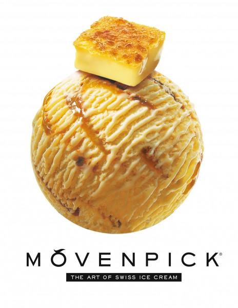 MÖVENPICK®全新零售口味法式焦糖燉蛋CRÈME BRÛLÉE_香濃細膩的焦糖味及齒頰留香的蛋味完美展現