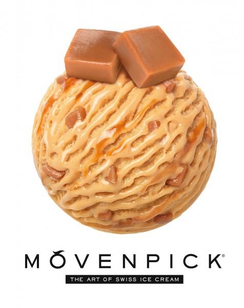 MÖVENPICK®全新零售口味焦糖CARAMELITA _香濃幼滑的焦糖醬及手製瑞士焦糖脆粒讓的回味無窮