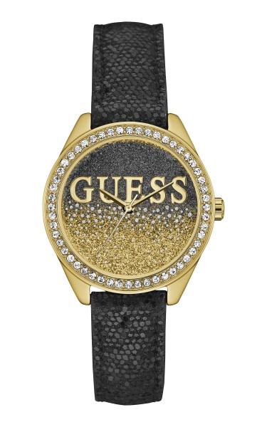 GUESS閃爍時尚腕錶-黑
