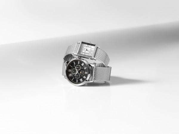 GUESS WATCHES閃爍鋼網帶手錶組合 (1)