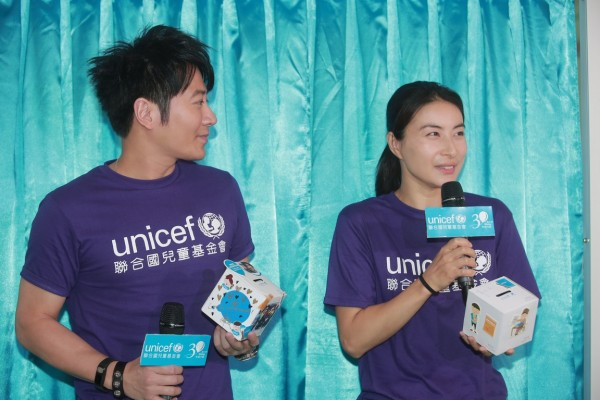 UNICEF HK大使郭晶晶女士於開幕禮上分享教育兒子參與慈善工作的點滴。