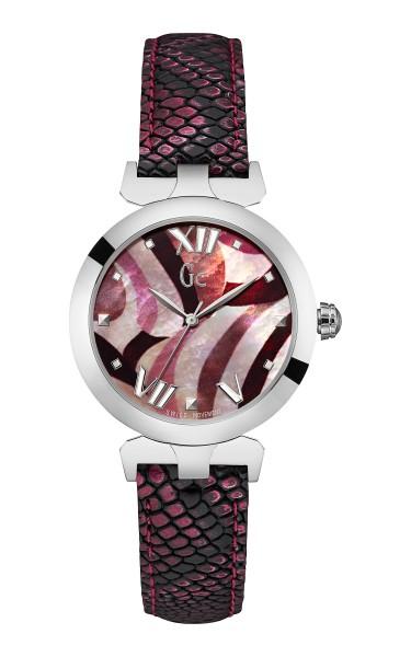 紫紅色幻變蛇紋皮製錶帶