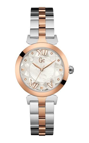 銀鋼色與玫瑰金(PVD)雙色調錶帶 (2)