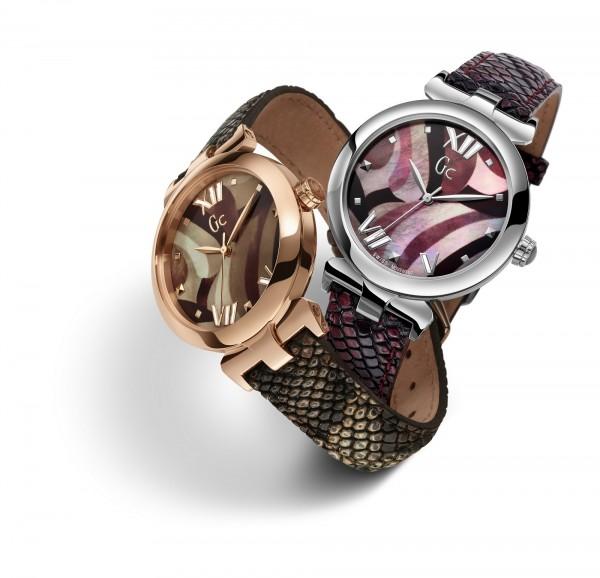 Gc LadyBelle幻變蛇紋皮製錶帶