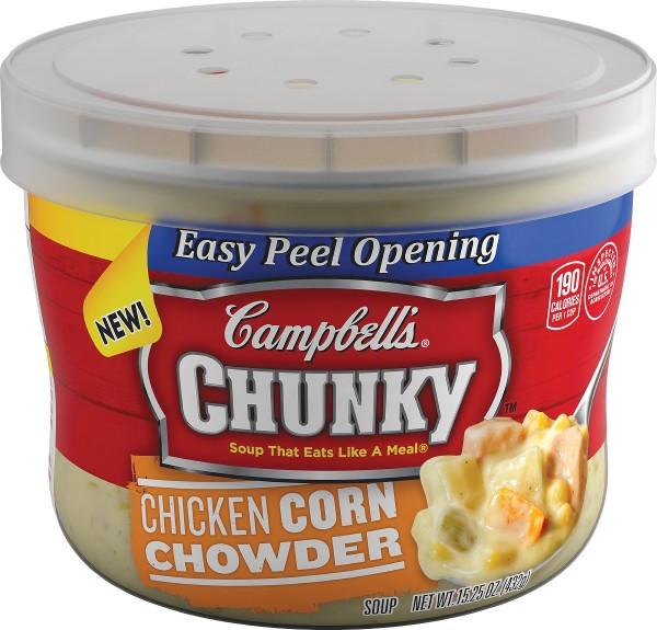 微波足料濃湯:周打栗米雞粒湯