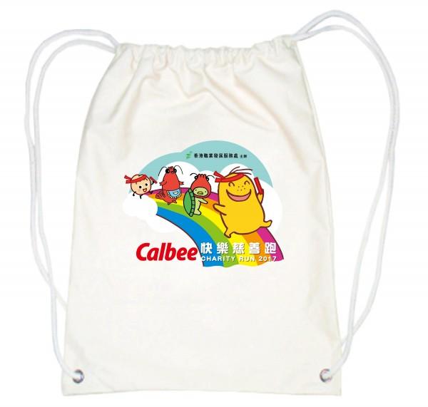 Calbee快樂慈善跑 紀念索繩背包
