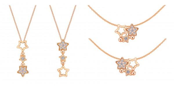 justdiamond「Wishing Star」鑲鑽吊墜